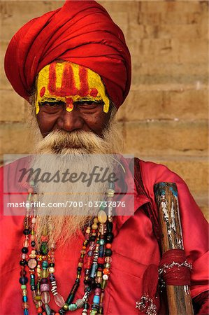 Sadhu, Varanasi, Varanasi District, Uttar Pradesh, India Stock Photo - Rights-Managed, Image code: 700-03737876