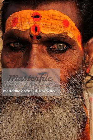Sadhu, Varanasi, Varanasi District, Uttar Pradesh, India Stock Photo - Rights-Managed, Image code: 700-03737877