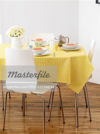 Table Set for Breakfast Stock Photo - Rights-Managed, Image code: 700-03738034