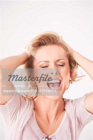 Aggravated Woman Stock Photo - Rights-Managed, Image code: 700-03738106