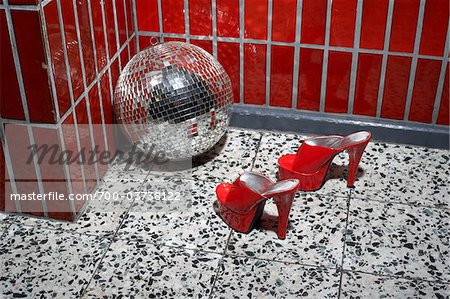 Red Shoes and Disco Ball Stock Photo - Rights-Managed, Image code: 700-03738122
