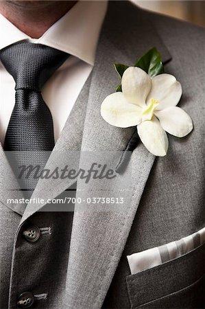Close-Up of Boutonniere on Man's Suit Stock Photo - Rights-Managed, Image code: 700-03738513