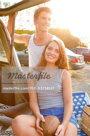 Young Couple at Drive-In Theatre Stock Photo - Rights-Managed, Image code: 700-03738537