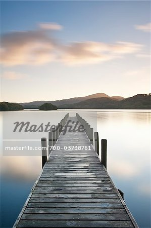 Dock on Coniston Water, Keswick, Cumbria, England Stock Photo - Premium Rights-Managed, Artist: JW, Code: 700-03738761