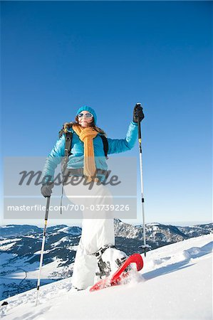 Woman Snowshoeing Stock Photo - Rights-Managed, Image code: 700-03739226
