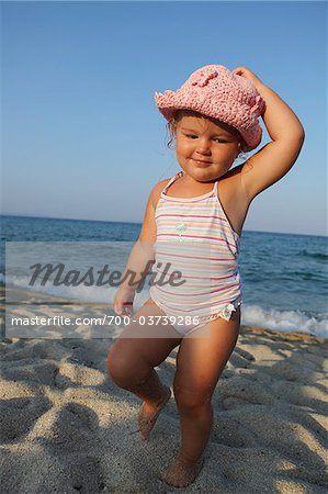 Toddler at Beach Stock Photo - Rights-Managed, Image code: 700-03739286