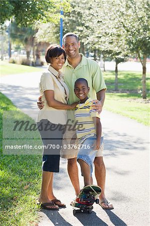 Portrait of Family in Park Stock Photo - Rights-Managed, Image code: 700-03762716