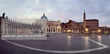 St Peter's Square, Vatican City, Rome, Italy Stock Photo - Rights-Managed, Image code: 700-03766829