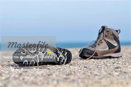 Hiking Boots on Beach Stock Photo - Rights-Managed, Image code: 700-03766832