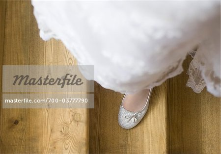 Looking Down at Bride's Feet Stock Photo - Rights-Managed, Image code: 700-03777790