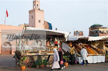 Fruit Vendor, Djemaa el Fna, Marrakesh, Morocco Stock Photo - Rights-Managed, Image code: 700-03778099