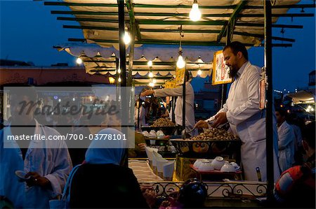 Food Vendor Cooking Snails, Djemaa El Fna, Marrakech, Morocco Stock Photo - Rights-Managed, Image code: 700-03778101