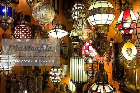Lanterns in Souk, Marrakech, Morocco