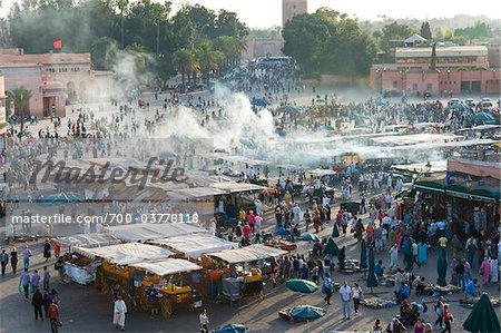 Crowds at Djemaa el Fna, Marrakech, Morocco Stock Photo - Rights-Managed, Image code: 700-03778118