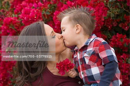 Mother and Son Kissing Stock Photo - Rights-Managed, Image code: 700-03778515