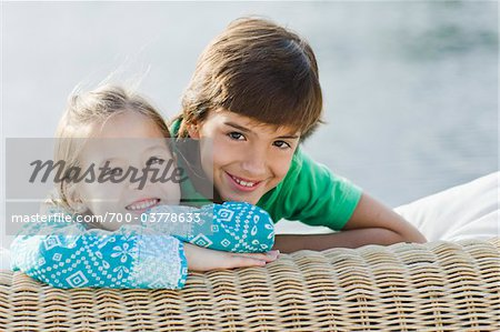 Portrait of Brother and Sister Outdoors Stock Photo - Rights-Managed, Image code: 700-03778633