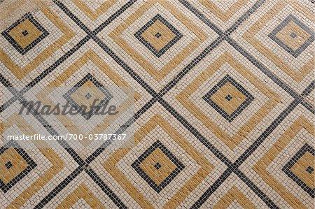 Roman Mosaic Floor, Pompejanum, Aschaffenburg, Bavaria, Germany