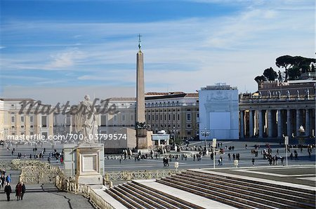 St Peter's Square, Vatican City, Rome, Italy Stock Photo - Rights-Managed, Image code: 700-03799574