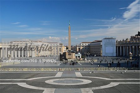 St Peter's Square, Vatican City, Rome, Italy Stock Photo - Rights-Managed, Image code: 700-03799575