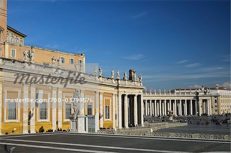 St Peter's Square, Vatican City, Rome, Italy Stock Photo - Rights-Managed, Image code: 700-03799576