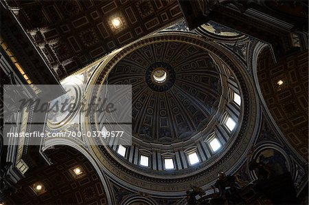Interior of St Peter's Basilica, Vatican City, Rome, Italy Stock Photo - Rights-Managed, Image code: 700-03799577