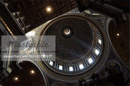 Interior of St Peter's Basilica, Vatican City, Rome, Italy
