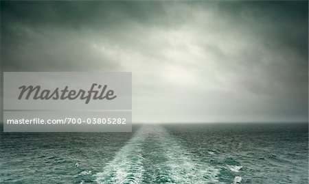 Storm Clouds and Wake from Stern of Ship Stock Photo - Rights-Managed, Image code: 700-03805282
