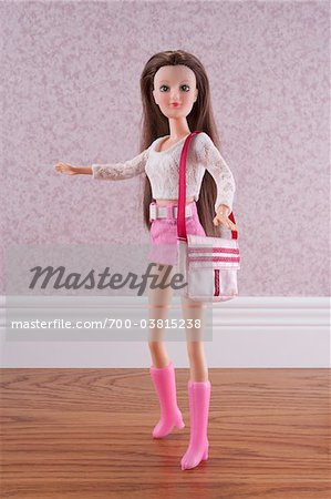 Fashion Doll with Purse Stock Photo - Rights-Managed, Image code: 700-03815238