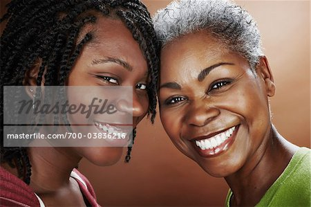 Portrait of Mother and Daughter Stock Photo - Rights-Managed, Image code: 700-03836216