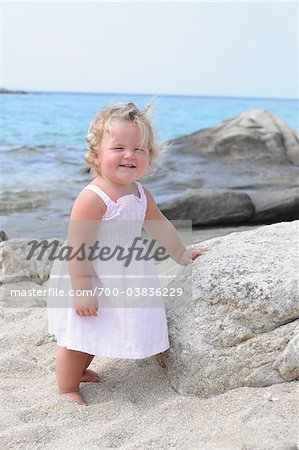 Little Girl at Beach Stock Photo - Rights-Managed, Image code: 700-03836229