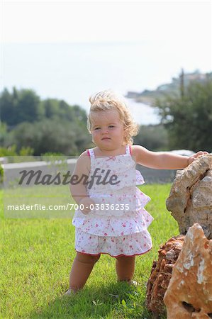 Little Girl Wearing Sundress Stock Photo - Rights-Managed, Image code: 700-03836235