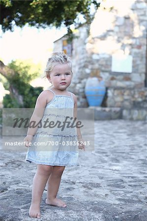 Little Girl Wearing Dress Stock Photo - Rights-Managed, Image code: 700-03836243