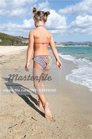Little Girl Wearing Bikini at Beach Stock Photo - Rights-Managed, Image code: 700-03836265
