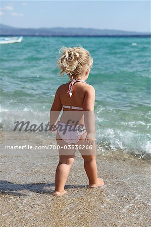Little Girl Wearing Bikini on Beach Stock Photo - Rights-Managed, Image code: 700-03836266