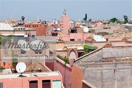Rooftops. Marrakech, Morocco