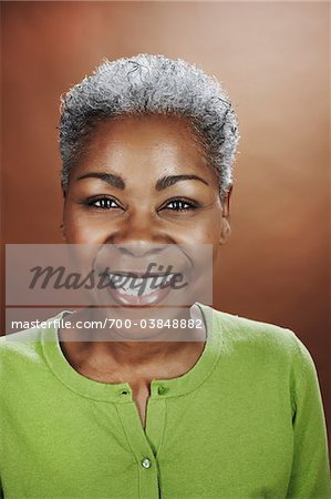 Portrait of Woman in Studio Stock Photo - Rights-Managed, Image code: 700-03848882