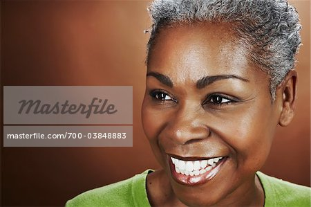 Close-Up Portrait of Woman in Studio Stock Photo - Rights-Managed, Image code: 700-03848883