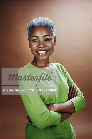 Portrait of Woman in Studio Stock Photo - Rights-Managed, Image code: 700-03848884