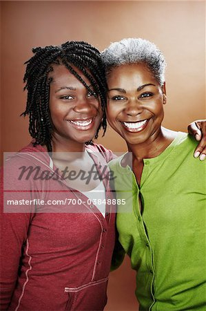 Portrait of Mother and Daughter Stock Photo - Rights-Managed, Image code: 700-03848885