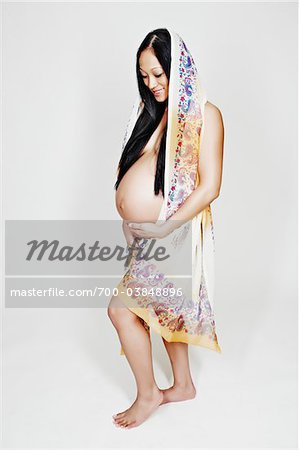 Portrait of Pregnant Woman in Studio Stock Photo - Rights-Managed, Image code: 700-03848896