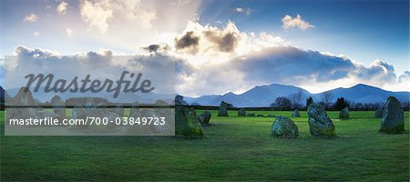 Castlerigg Stone Circle, The Lake District, Cumbria, England Stock Photo - Rights-Managed, Image code: 700-03849723