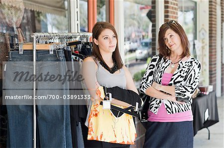 Mother and Daughter Having Argument While Shopping Stock Photo - Rights-Managed, Image code: 700-03891333