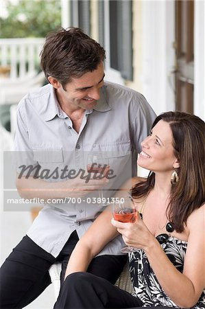 Couple Drinking Wine Stock Photo - Rights-Managed, Image code: 700-03891350