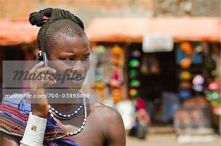 Masai Warrior Using Cell Phone Stock Photo - Rights-Managed, Image code: 700-03893468