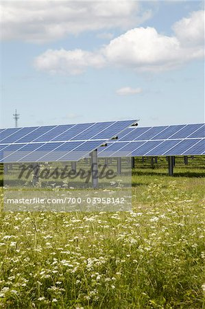 Solar Panels, Niebull, Germany Stock Photo - Rights-Managed, Image code: 700-03958142