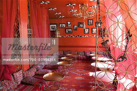 Interior of Cafe, Marrakech, Morocco
