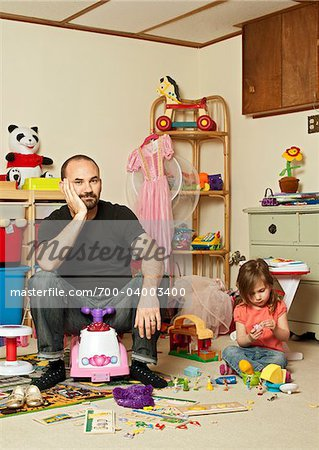 Father and Daughter in Playroom Stock Photo - Rights-Managed, Image code: 700-04003400
