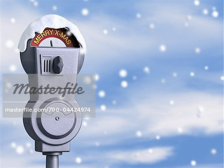 Merry X-mas Parking Meter Stock Photo - Rights-Managed, Image code: 700-04424974