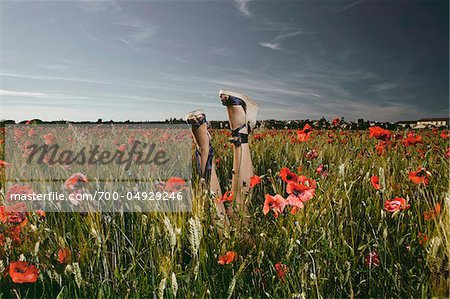 Woman's Legs in Poppy Field Stock Photo - Rights-Managed, Image code: 700-04929246
