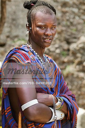 Portrait of Masai Man Stock Photo - Rights-Managed, Image code: 700-04981810